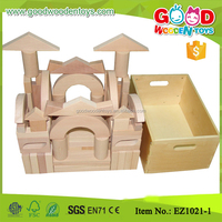 Preschool Toy 88pcs Beechwood Architectural Unit Blocks with cabinet