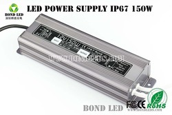 150W 36v led power driver waterproof IP67 with CE UL TUV GS