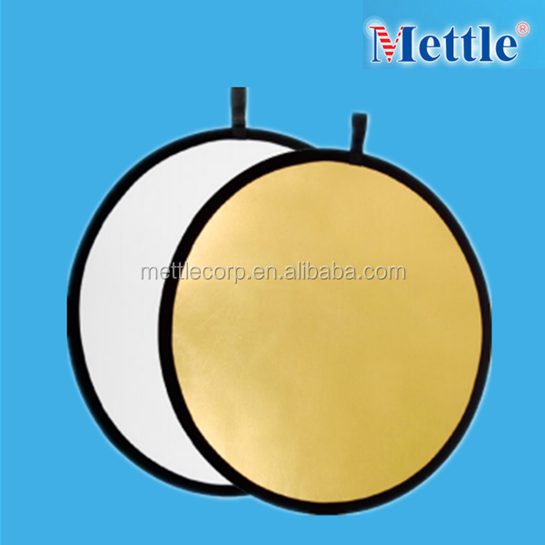 small round foldable reflector for photo studio and video light