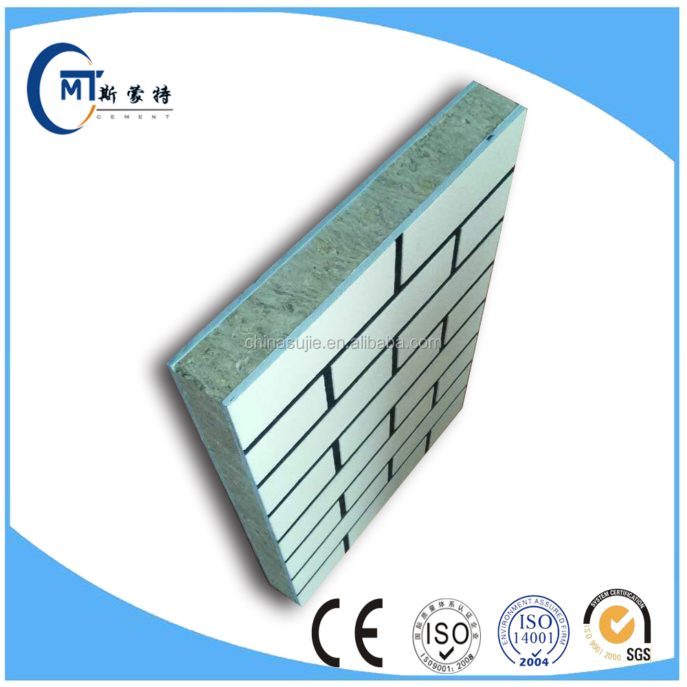 EPS expanded polystyrene sandwich panel imitation brick patterns fiber cement baseboard building exterial wall decoration