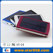 Factory Price Portable Ultrathin Solar power bank , solar charger with LED light