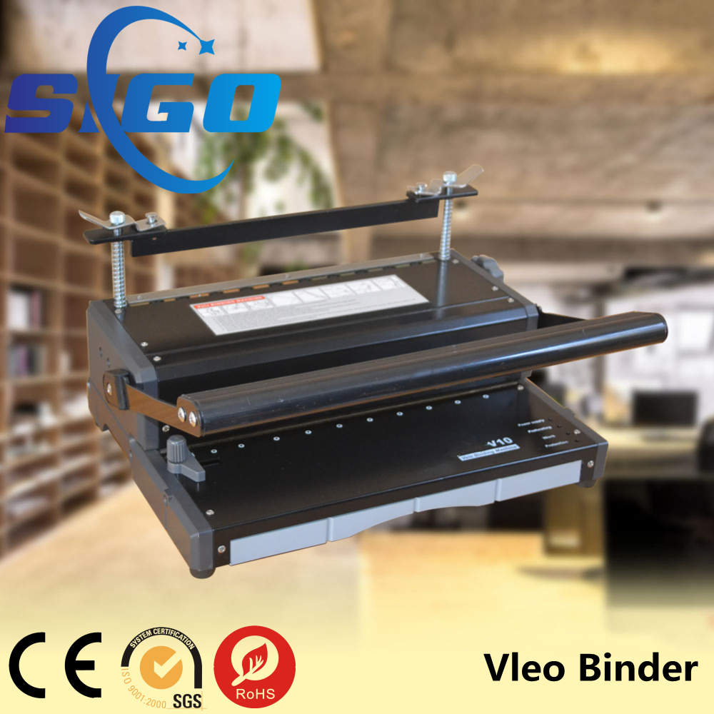 SG-V12 plastic coil binding machine notebook binder