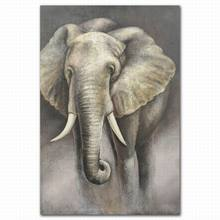 Funky animal elephant handmade oil painting wall picture for bedroom