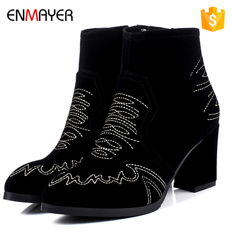womens suede leather boots ladies chunky ankle boots citi trends high heel shoes for women