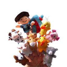 Preschool Kids Family Story Children Baby Games plush finger puppet doll