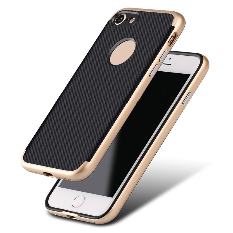2016 New Arrival TPU case, case with carbon fiber sticker for iPhone 7