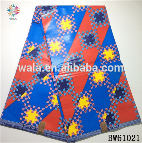 BW61021-(13) High Quality Colorful Super Wax African Fabric Ankara Prints Java Textile