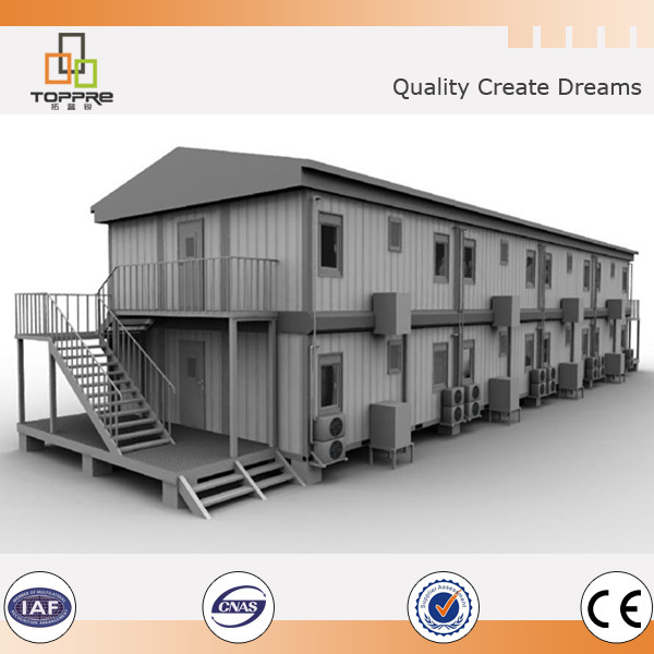 Prefab steel structure mobile home flat pack box guard container house