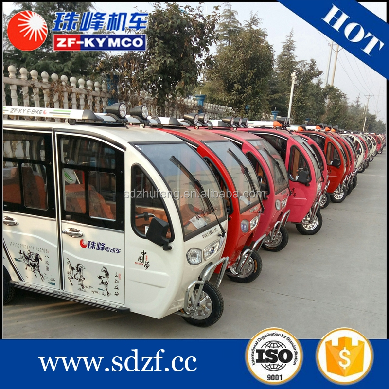 Customer favourite motorized electric tandem tricycles for adults