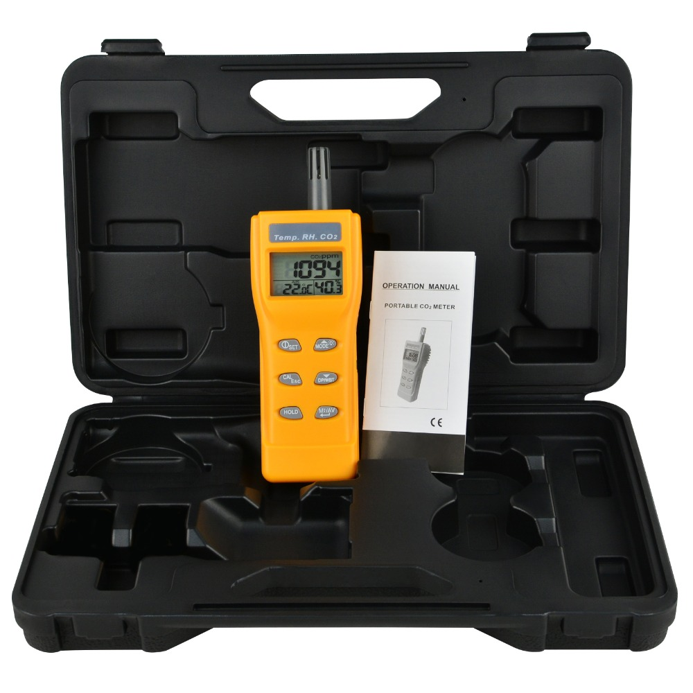 Indoor Air Quality 9999ppm Digital Carbon Dioxide Temperature Humidity NDIR Sensor IAQ CO2 Monitor WB DP <strong>Tester</strong>