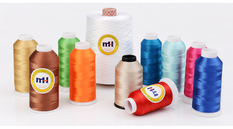 Wholesale 120d/2 Gold 100% polyester embroidery thread