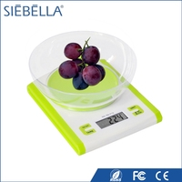 Hot selling electronic weighing kitchen scale with bowl ABS digital food scale