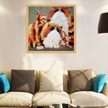 Wholesale price persian cats picture 5D DIY full diamond painting