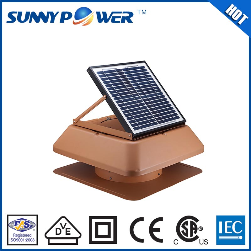 New Square 12inch With Battery Solar Powered Auto Cool Fan Air Vent