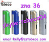 Tobeco new arrival full mechanical mod zna 36 mod clone dna 30 zna 36 with factory price