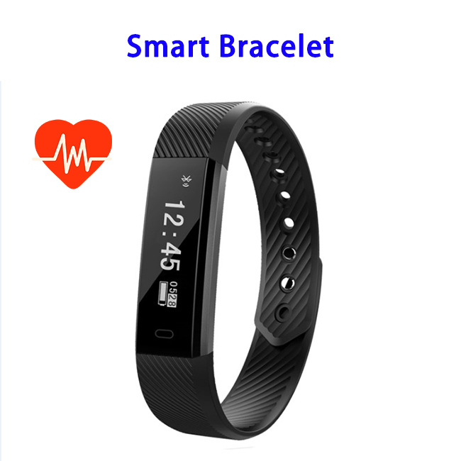 Bluetooth 4.0 Waterproof 115HR Smart Bracelet for iPhone and Android