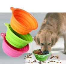 Low Price Supreme Dog Food Bowl Sillicone Pet Food Container Bowl in 3colors Pet Travel Feeder Bowl