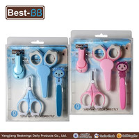 Hot China factory baby manicure pedicure set kit tool with nail clippers and scissors