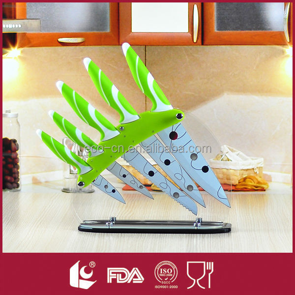 5 PCS Non-stick Coating Colorful Kitchen Knife Of