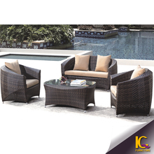 Long-lasting Garden furniture New design rattan Sofa/lounge wicker outdoor furniture