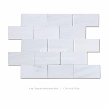 3''X6'' white marble of statuary white for building