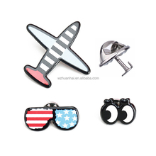 promotional items toys accept custom metal shaped plane iron badge