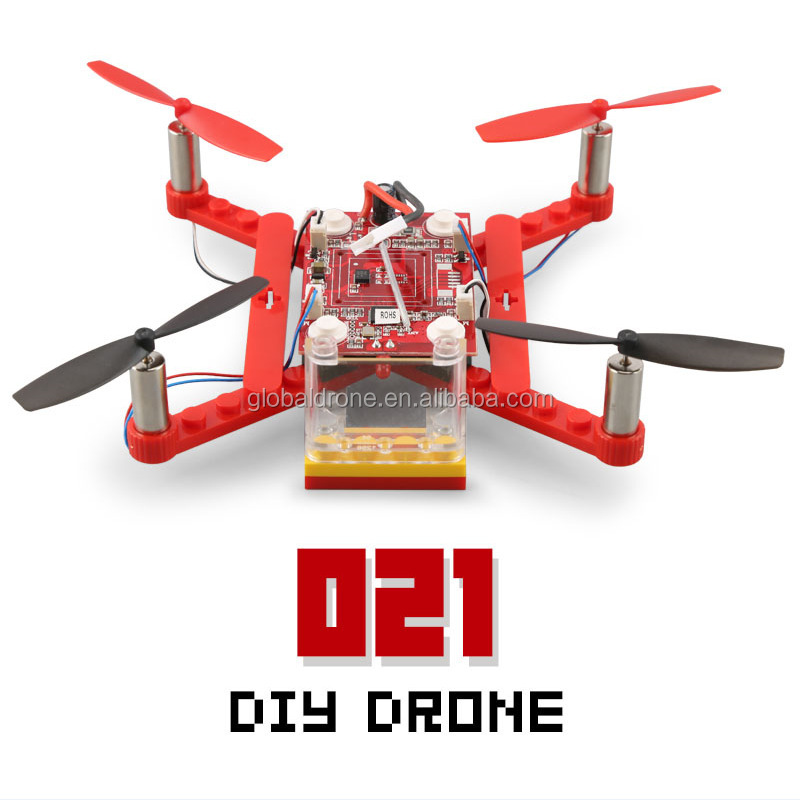 Realacc 021 DIY Building Blocks Mini Kid Indoors Dron 2.4G 4CH 6Axis RC Drone Quadcopter RTF Toys Gift VS 902S RC Helicopter