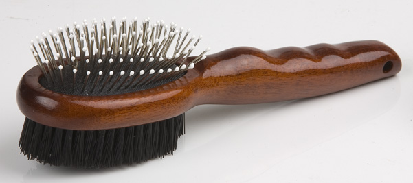 Wood Pet Double Side Brush