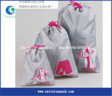 Wholesale different size nylon drawstring bag with custom logo