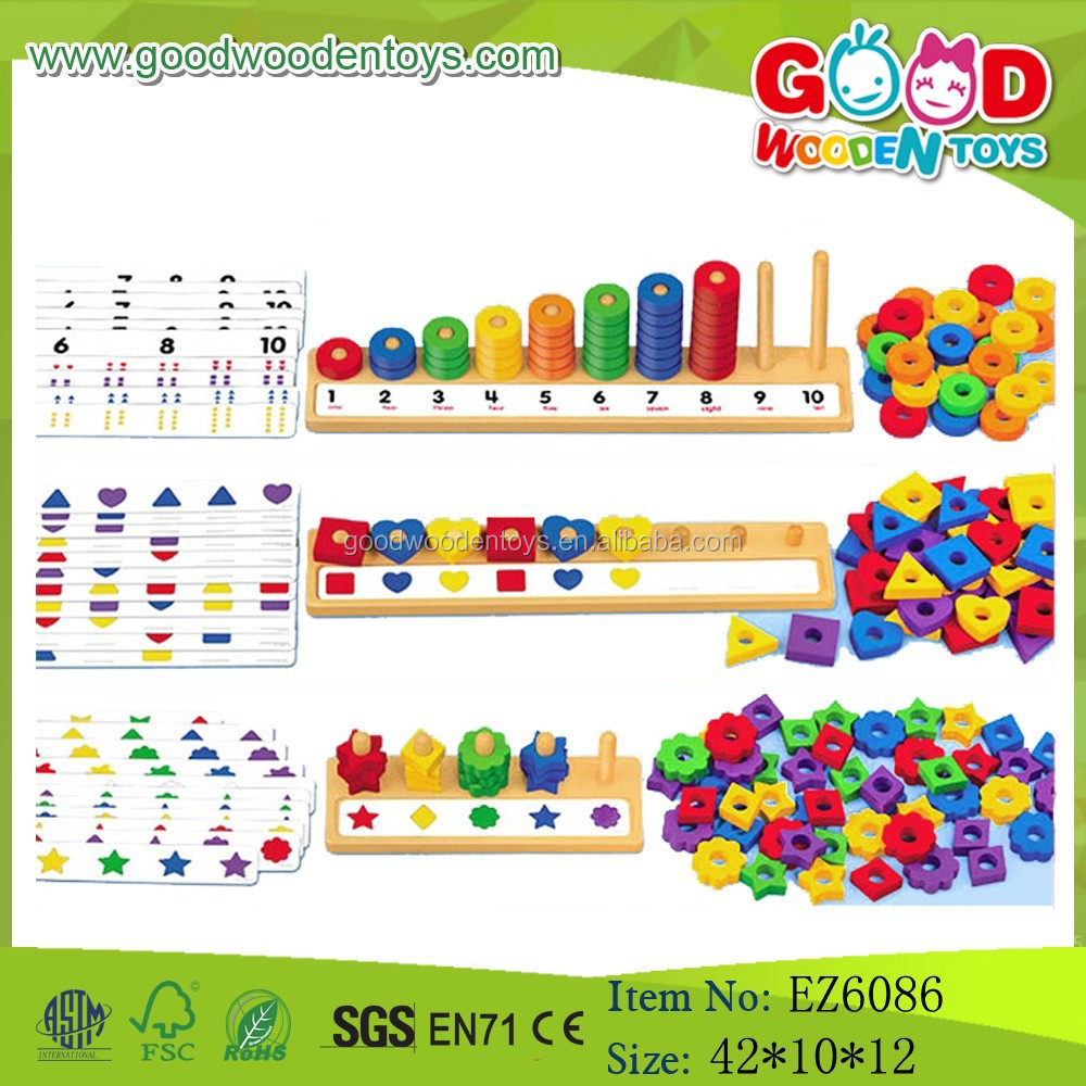 2017 Newest Learning Abacus Peg Board,Educational Math Board Toy,Wooden Counting Board