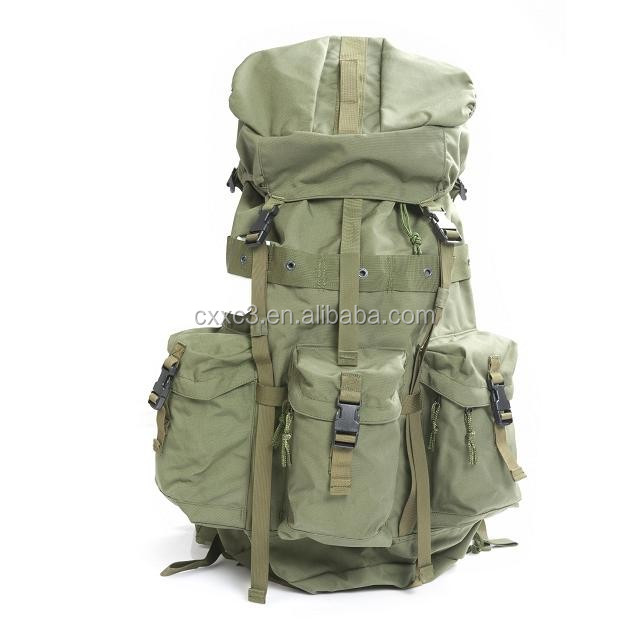 high quality 1000D nylon olive green military backpack