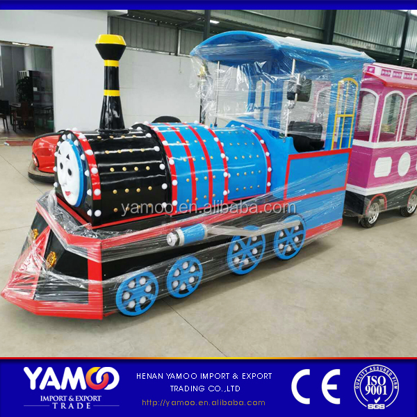 Amusement park equipment electric trackless train miniature steam train for sale