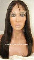 With Grade AAA Brazilian hair 16inch color2 straight 100% human hair lace wig