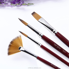 Manufacturer mixed hair brush set artist oil acrylic painting brush crafts with golden nylon paint brush set