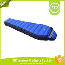 Wholesale high quality 3 season double sleeping bag with pillow
