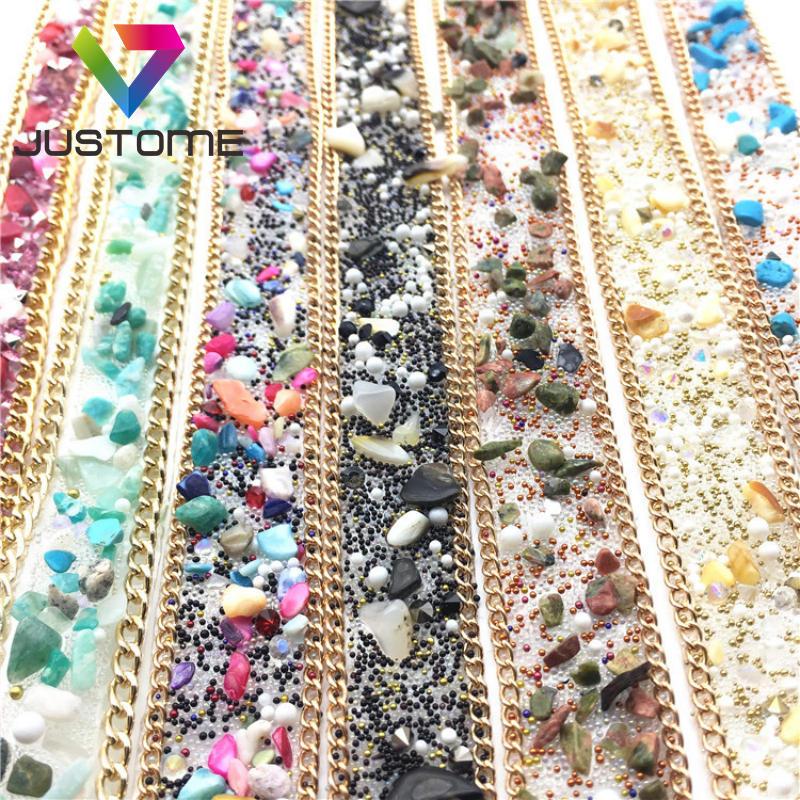 Cheap Price Stick Crystal Banding Trim Rhinestone Resin Trimming For Shoes Decoration