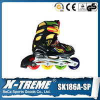 Alibaba express semi-soft 70mm*24mm PU wheels 3 wheel roller blade