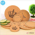 Wholesale drink coaster low prices blank custom cork coasters and placemat