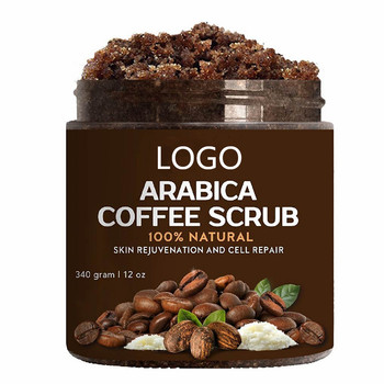 100% Natural Organic Coffee Body Scrub With Arabica Coffee Powder