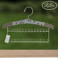 handmade fabric cover Metal Hangers for jewelry necklace display