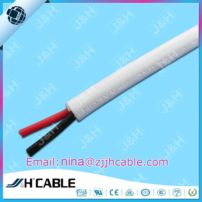 VDE Approval H03VV-F PVC Insulation Flexible Power Cord