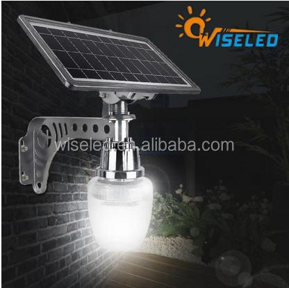 led garden light with solar penel mounted outdoor solar light led solar wall light