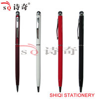 promotional slim good gift stylus touch metal ballpen