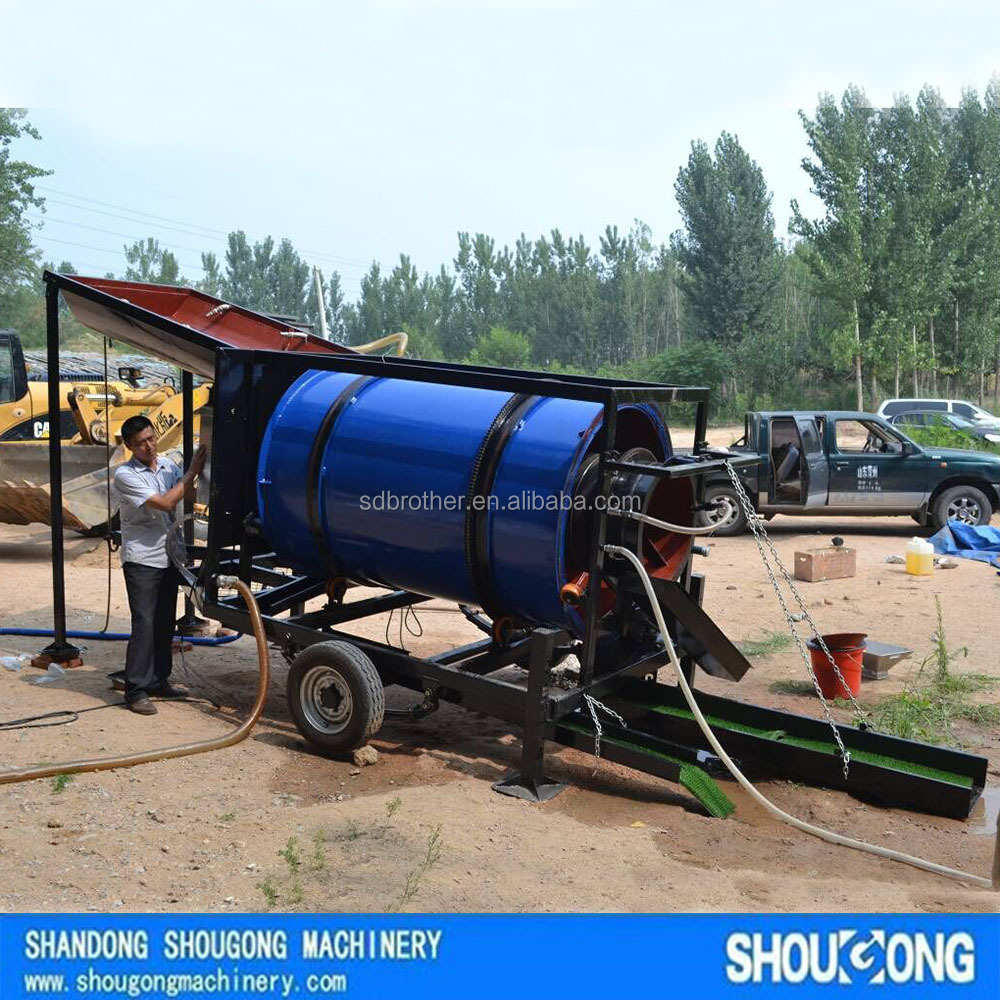 Small Mobile gold trommel wash plant