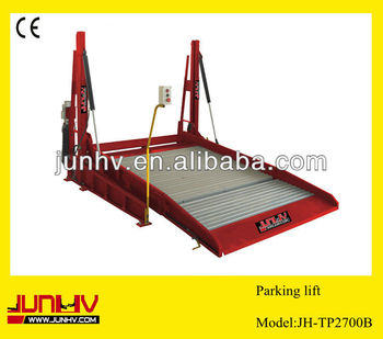 Two Post Tilt Platform Car Parking Lift