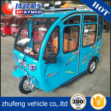 High quality bajaj 3 wheel with canopy motor tricycle