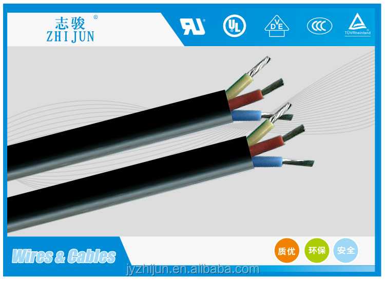 heat resisting silicone 3 core 1.5mm2 flexible cable manufacturer