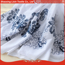 shaoxing textile the latest children dress designs and home textile in cotton embroidered fabric