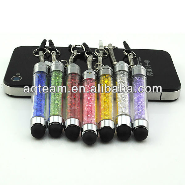 Crystal Universal Capacitive Mini Screen Stylus Touch Pen For iPhone iPad Sumsung Mobile Phone Tablet