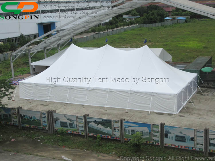 18meter span High peak canopy stage pole tent outdoor with lining and curtains